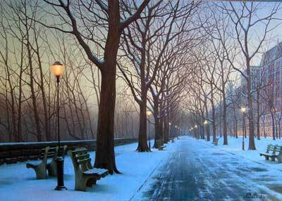 Alexei Butirskiy Alexei Butirskiy Limited Edition Giclee on Canvas A Cold Winter's Night