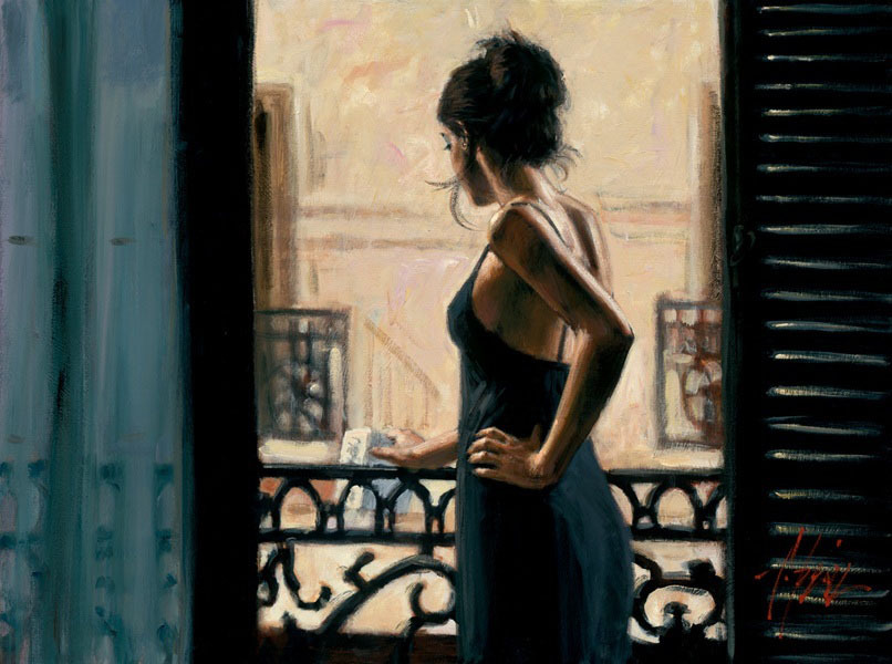 Fabian Perez Fabian Perez Limited Edition Giclee on Canvas At The Balcony