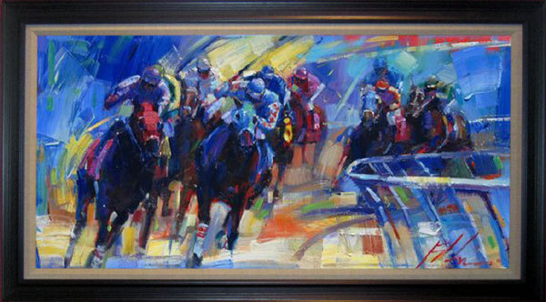 Michael Flohr Art Michael Flohr Limited Edition Giclee on Canvas Across the Board