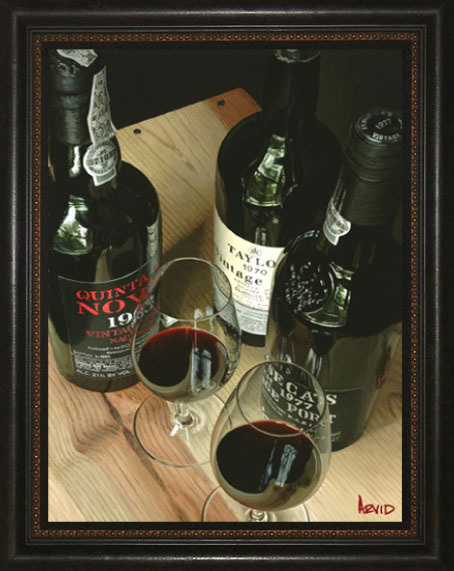 Wine Art Thomas Arvid Limited Edition Giclee on Canvas Any Port (SN)