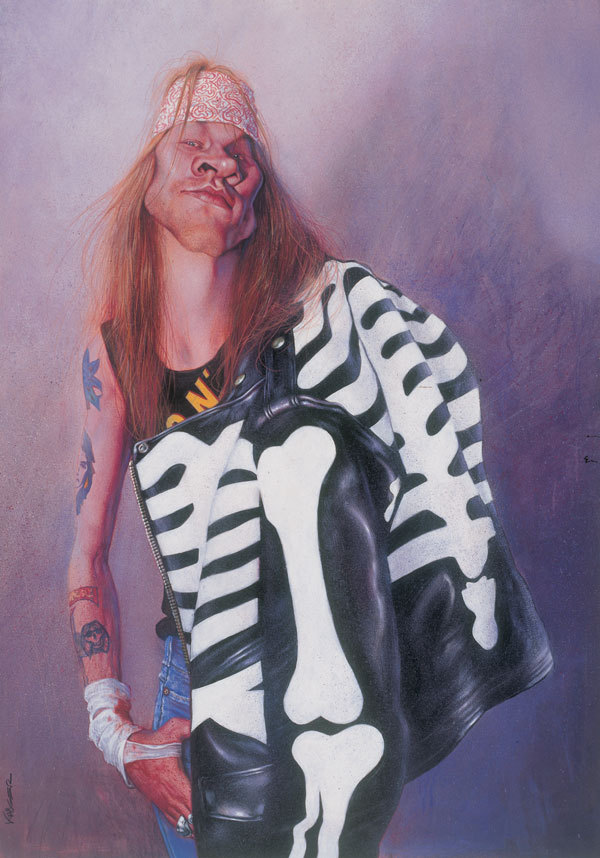 Kruger Fine Art Sebastian Kruger Original Acrylic on Board Axl - Axl Rose (Original Painting)