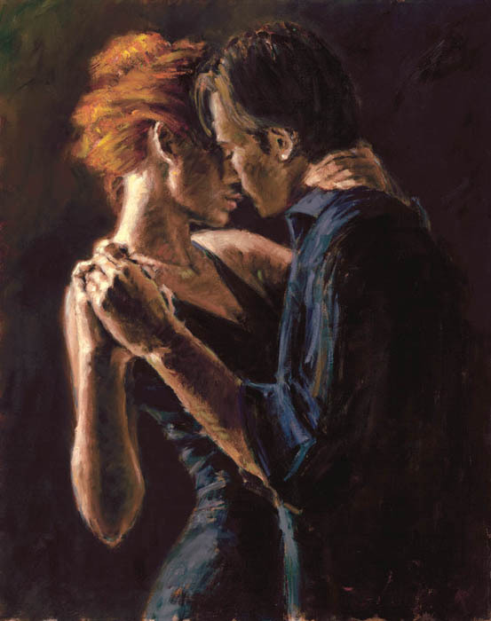 Fabian Perez Fabian Perez Limited Edition Giclee on Canvas Baladas In Buenos Aires