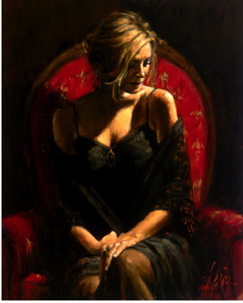 Fabian Perez Fabian Perez Limited Edition Giclee on Canvas Black Stone