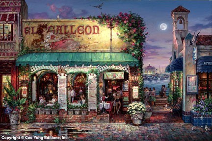 Cao Yong Cao Yong Limited Edition Giclee on Canvas Cafe Bella