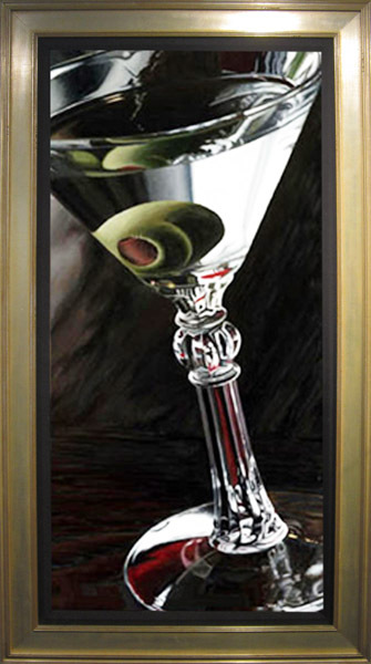 Wine Art Thomas Arvid Limited Edition Giclee on Canvas Classic Martini (AP)