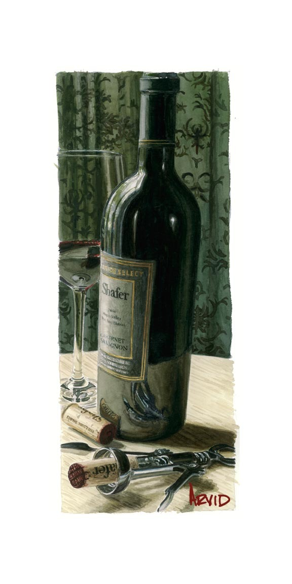 Wine Art Thomas Arvid Limited Edition Giclee on Paper Drinking Again (SN)