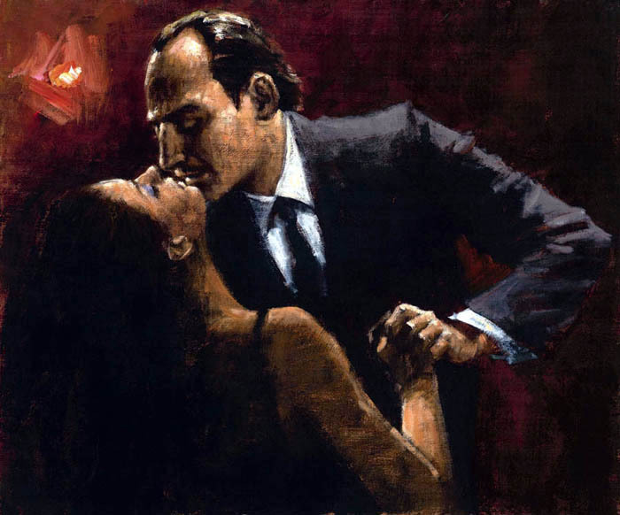 Fabian Perez Fabian Perez Limited Edition Giclee on Canvas Embrace of Tango