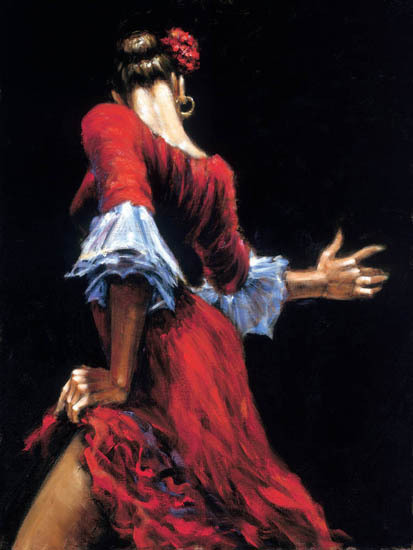 Fabian Perez Fabian Perez Limited Edition Giclee on Canvas Flamenco Dancer III