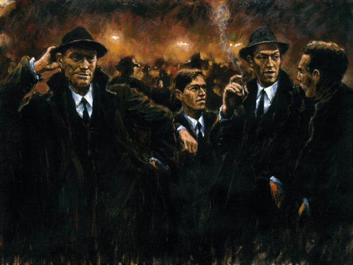 Fabian Perez Fabian Perez Limited Edition Giclee on Canvas Friends At Las Brujas