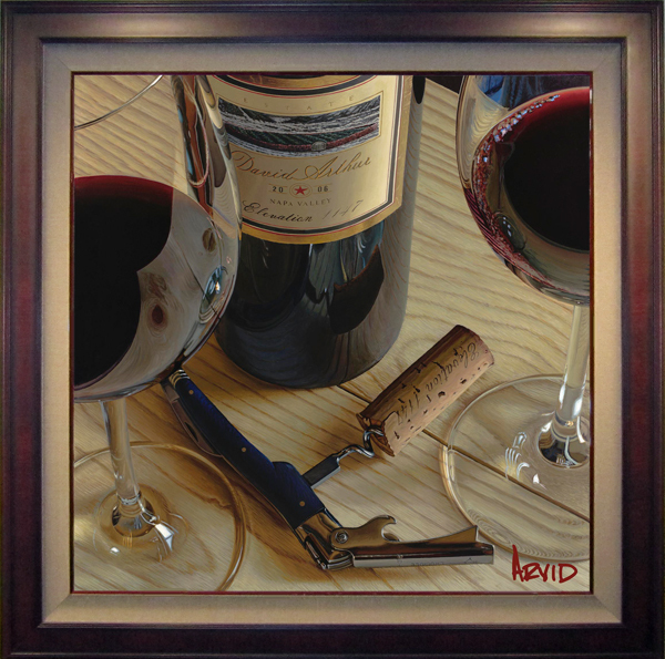 Wine Art Thomas Arvid Limited Edition Giclee on Canvas It's A Long Night (SN)