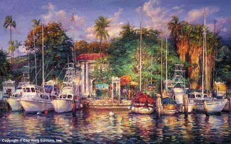 Cao Yong Cao Yong Limited Edition Giclee on Canvas Lahaina Afternoon