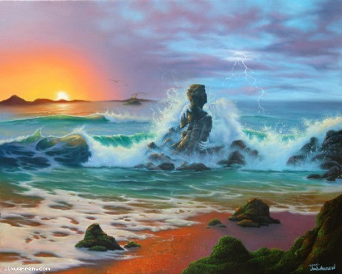 Jim Warren Fine Art Jim Warren Limited Edition Giclee on Canvas Last Embrace