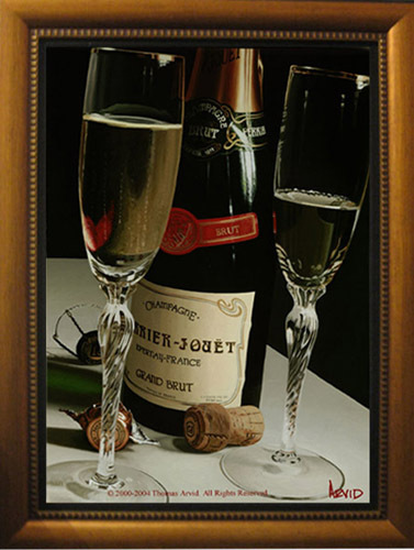 Wine Art Thomas Arvid Limited Edition Giclee on Canvas Let's Get Lost (AP)