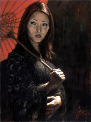 Fabian Perez Fabian Perez Limited Edition Giclee on Canvas Michiko III