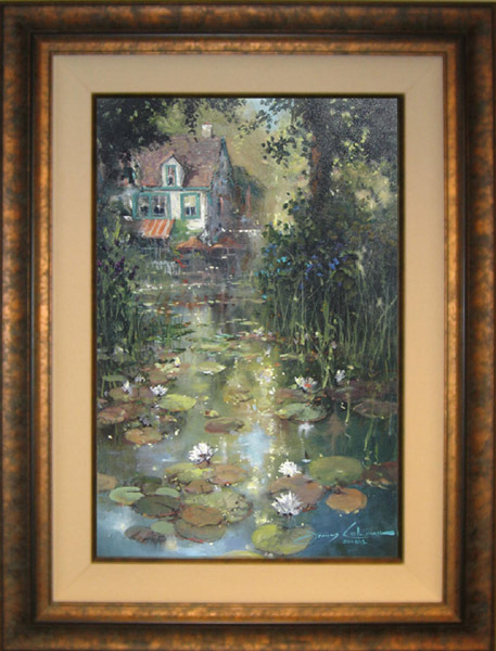 James Coleman James Coleman Limited Edition Giclee on Canvas Nestled Along the Pond