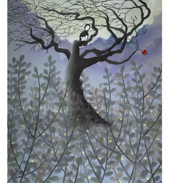 artist mackenzie thorpe mixed media on paper