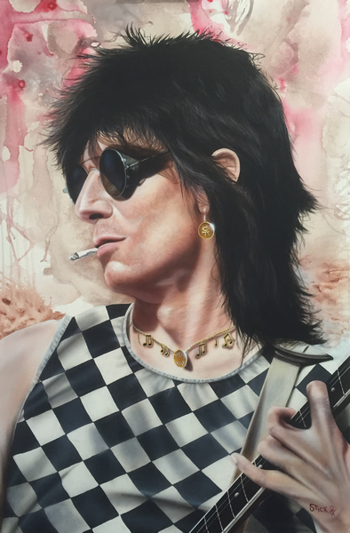 Artist Ronnie Wood portrait