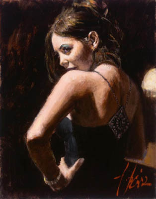 Fabian Perez Fabian Perez Limited Edition Giclee on Canvas Study of Monica