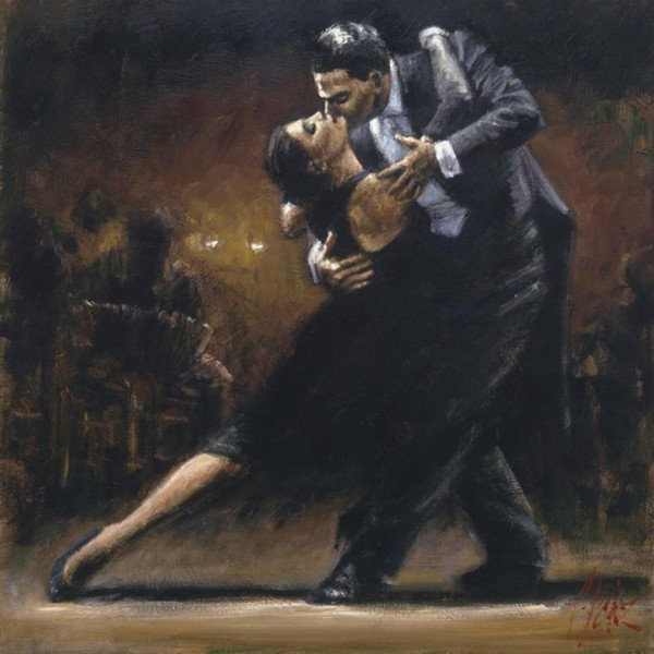 Fabian Perez Fabian Perez Limited Edition Giclee on Canvas Study For Tango V