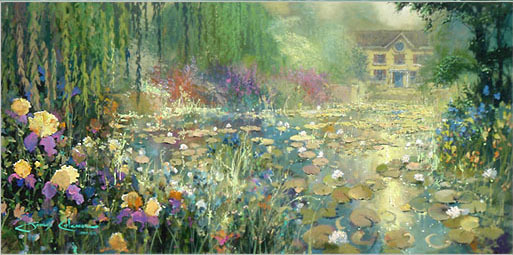 James Coleman James Coleman Limited Edition Giclee on Canvas Summer's Bloom (30x60)