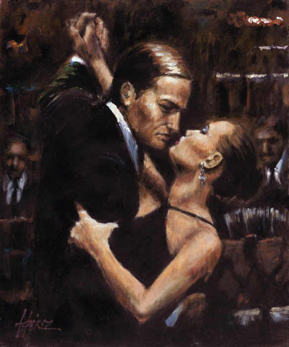 Fabian Perez Fabian Perez Limited Edition Giclee on Canvas Two For Tango
