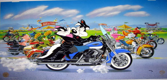 Warner Brothers Pepe Le Pew The Ride - Harley Davidson Road King Classic