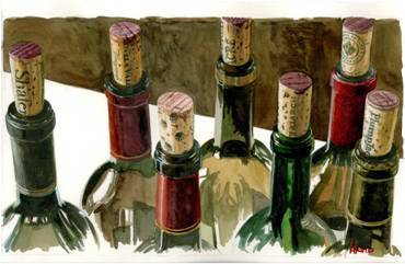 Wine Art Thomas Arvid Limited Edition Giclee on Paper A Few Of My Favorite Things (SN)