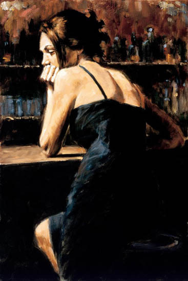 Fabian Perez Fabian Perez Limited Edition Giclee on Canvas Wondering at Las Brujas