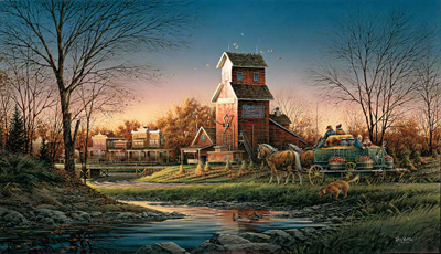 Terry Redlin Terry Redlin Limited Edition Print on Paper Above the Fruited Plain