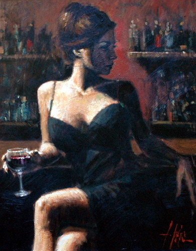 Artist Fabian Perez Limited Edition Giclee On Canvas
