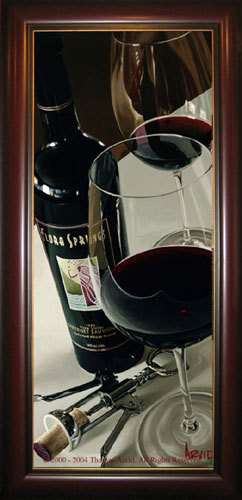Wine Art Thomas Arvid Limited Edition Giclee on Canvas A Nice Bouquet (SN)