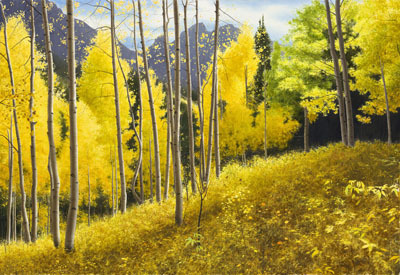 Alexander Volkov Alexander Volkov Limited Edition Giclee on Canvas Aspen Showers