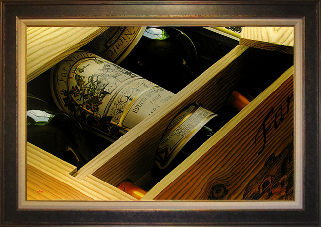 Wine Art Thomas Arvid Limited Edition Giclee on Canvas Best Case Scenario (SN)