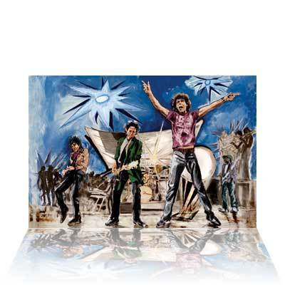 Ronnie Wood Ronnie Wood Limited Edition Print Big Bang (Blue)
