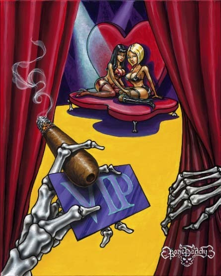 Bone Daddy Bone Daddy Limited Edition Giclee on Canvas In The V.I.P