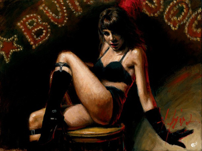 Fabian Perez Fabian Perez Limited Edition Giclee on Canvas Burlesque