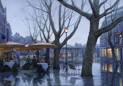 Alexei Butirskiy Alexei Butirskiy Limited Edition Giclee on Canvas Cafe Luminar