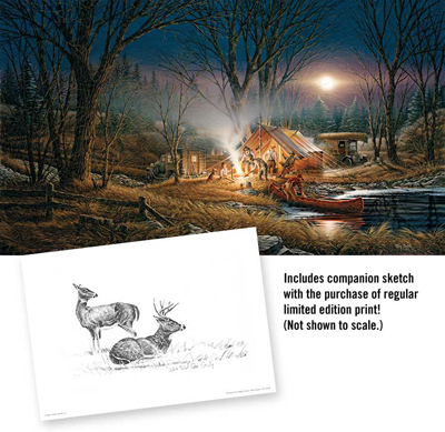 Terry Redlin Terry Redlin Limited Edition Print on Paper Campfire Tales