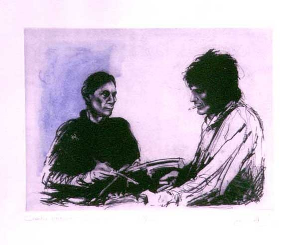 Ronnie Wood Ronnie Wood Limited Edition Print Charlie & Ronnie in Sandymount