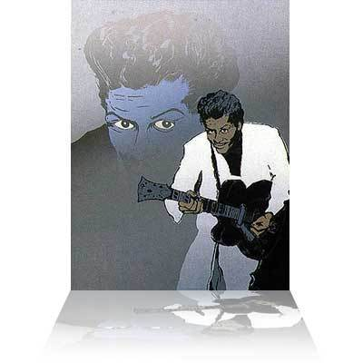 Ronnie Wood Ronnie Wood Limited Edition Print Chuck Berry II (Blue)