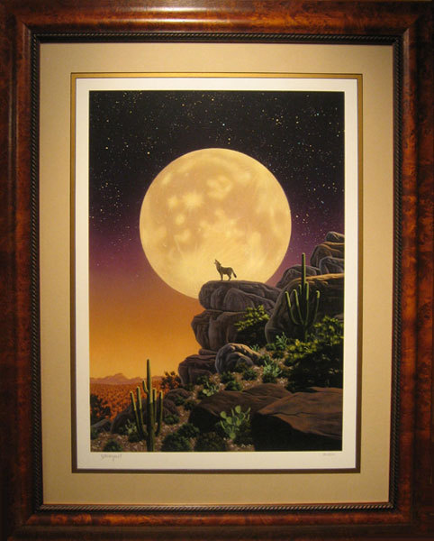 Fine Artwork On Sale Schim Schimmel Limited Edition Giclee on Paper Desert Moon Song