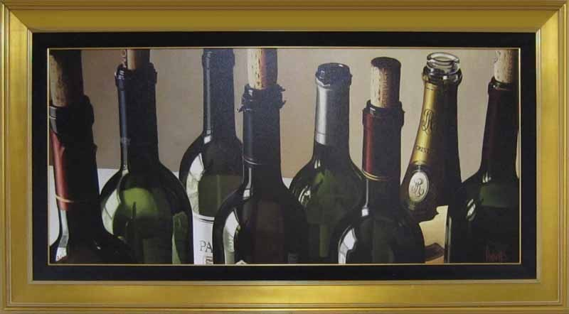 Wine Art Thomas Arvid Limited Edition Giclee on Canvas Eight Empties (SN)