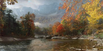 Phillip Philbeck Phillip Philbeck Limited Edition Giclee on Canvas Fall in the Appalachians