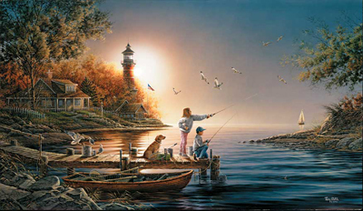 Terry Redlin Terry Redlin Limited Edition Print on Paper From Sea to Shining Sea