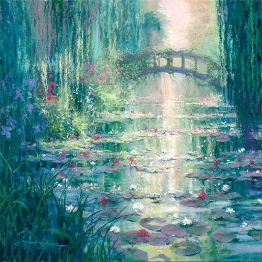 James Coleman James Coleman Limited Edition Giclee on Canvas Garden of Lilies (36 x 36)