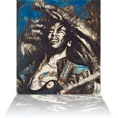 Ronnie Wood Ronnie Wood Limited Edition Print Get Up Stand Up (Blue)