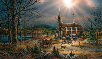 Terry Redlin Terry Redlin Limited Edition Print on Paper God Shed His Grace...