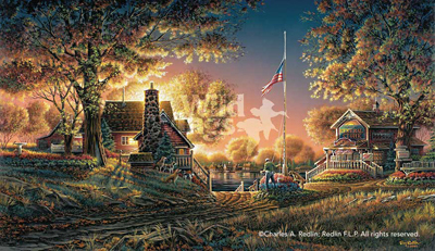 Terry Redlin Terry Redlin Limited Edition Print on Paper Good Evening, America!