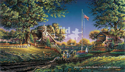 Terry Redlin Terry Redlin Limited Edition Print on Paper Good Morning, America!