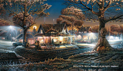 Terry Redlin Terry Redlin Limited Edition Print on Paper His First Date